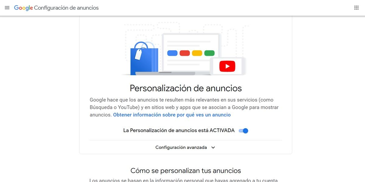 google adsettings pagina web