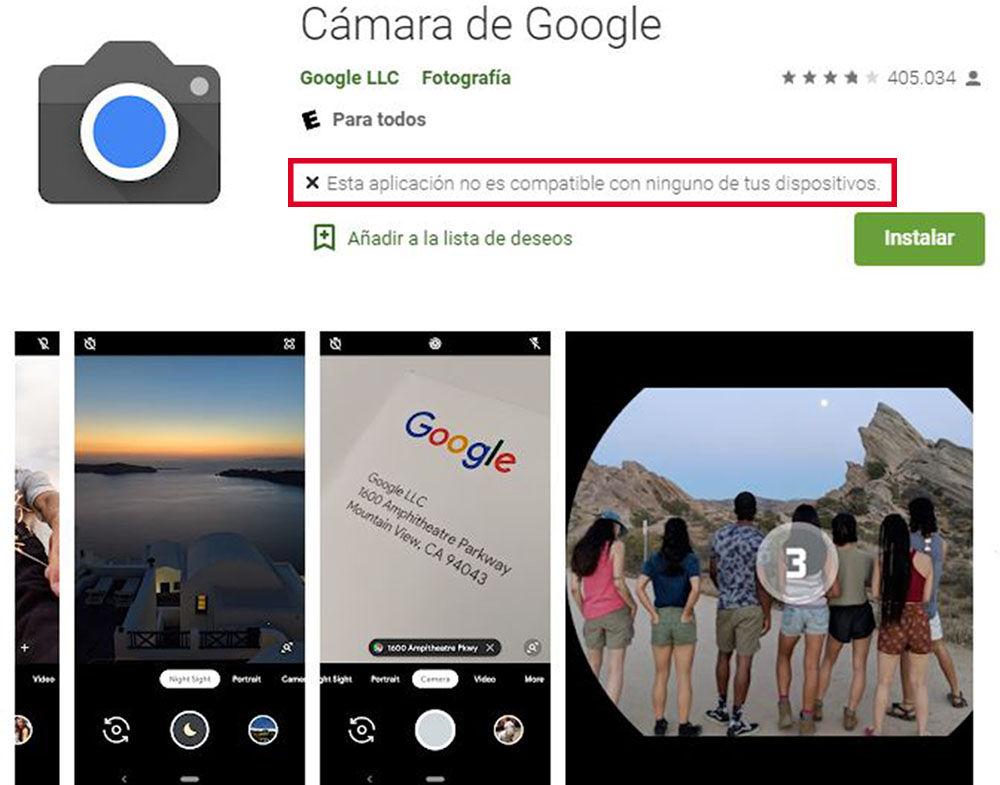 google camera compatible moviles