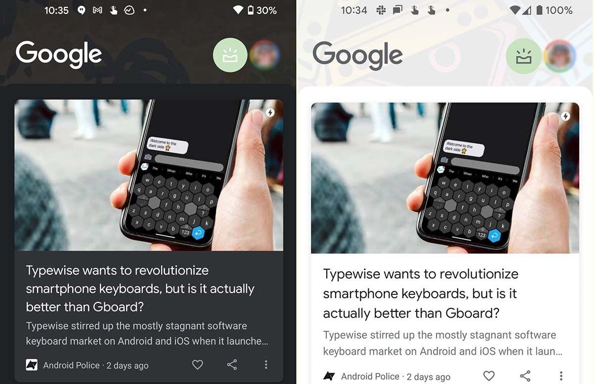 google discover nueva ui en android 12