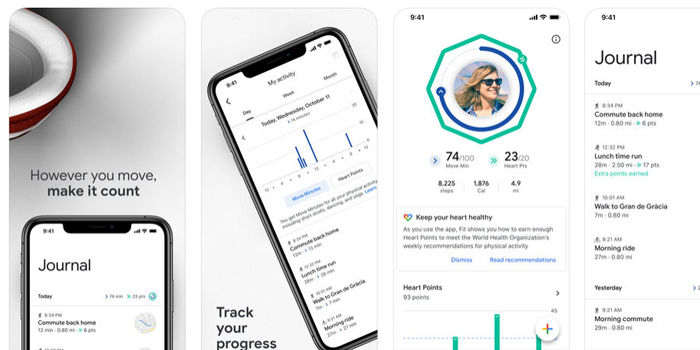 google fit en iphone