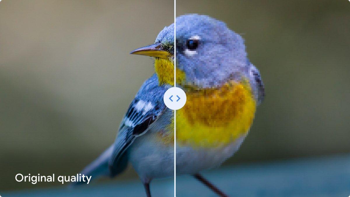 Google Fotos muestra la diferencia entre Calidad original y Alta calidad