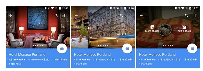 google maps 9.18 carrusel fotos