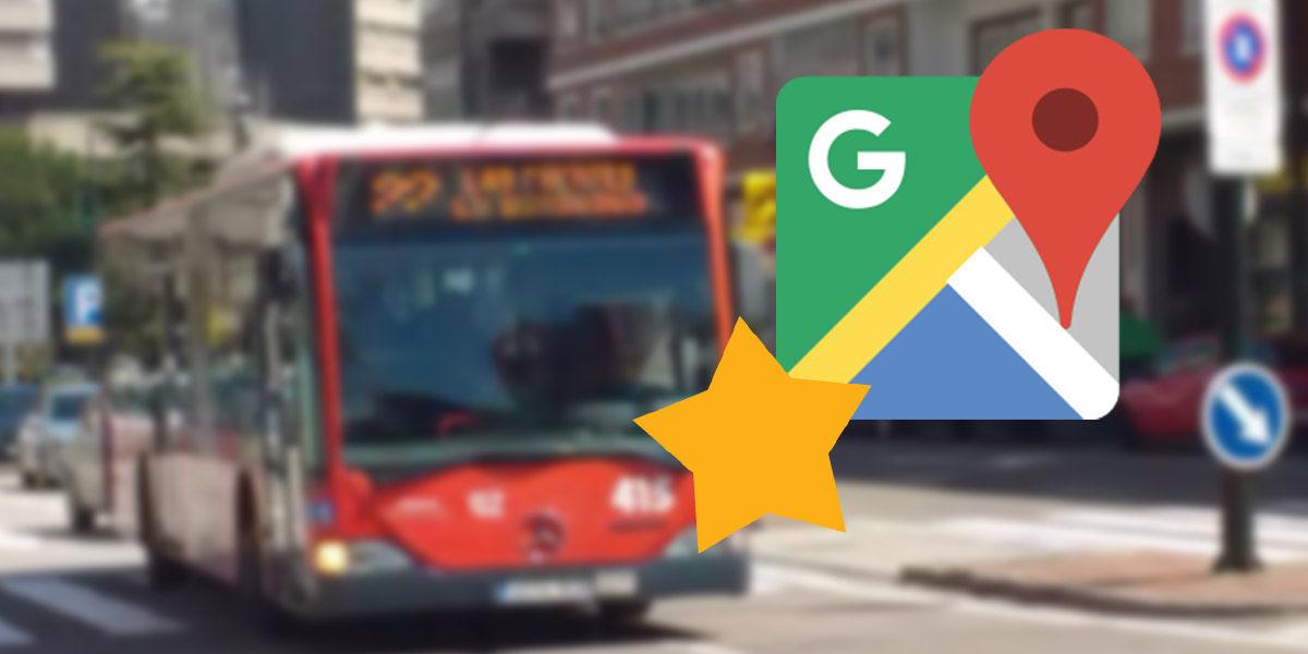 google maps accesos directos transportes preferidos
