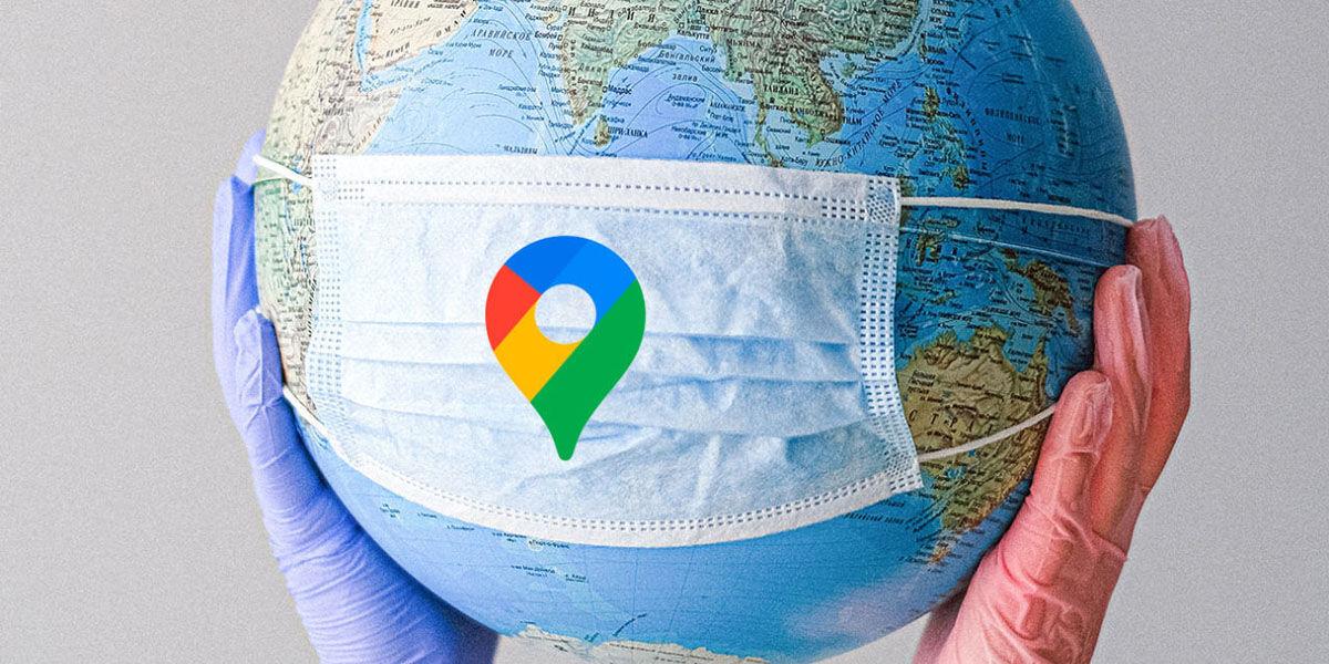 google maps agrega mapa contagio covid