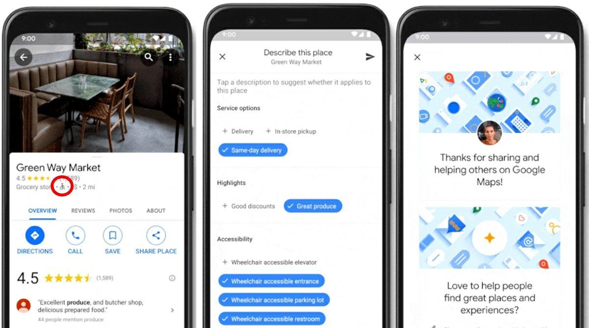 google maps ahora permite ver lugares accesibles con sillas de ruedas
