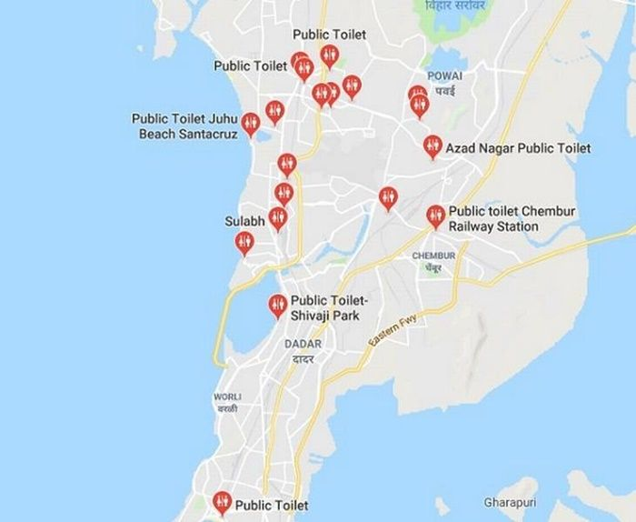 google maps bano publico