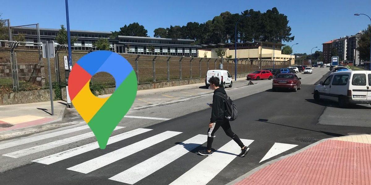 google maps mostrara paso de peatones y aceras