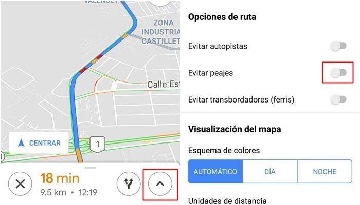 google maps peajes