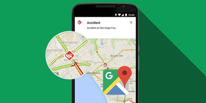 google maps reportar incidencias waze