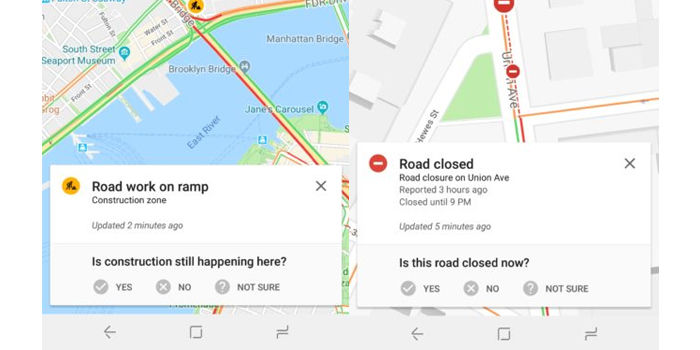 google maps reportar incidencias