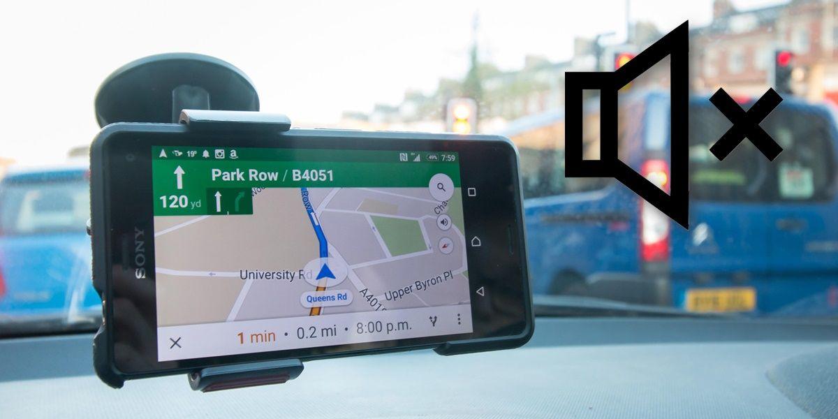 google maps silenciar voz llamadas