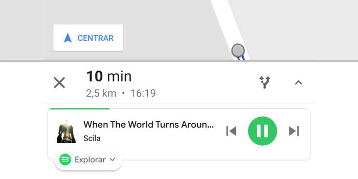 google maps spotify reproductor