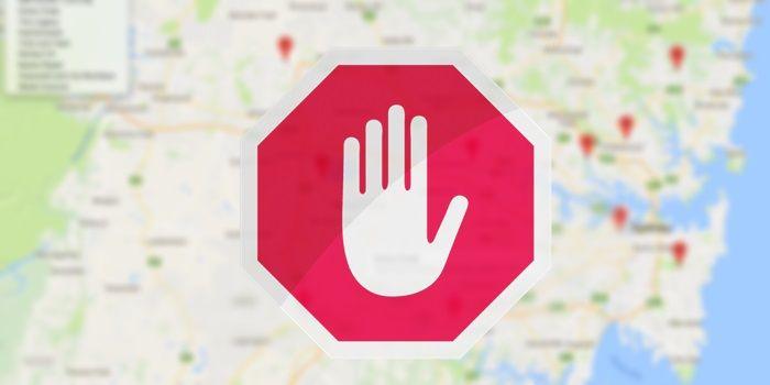 google maps stop