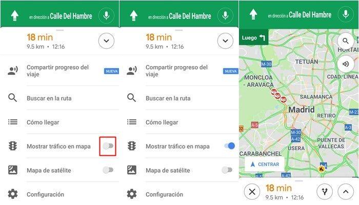 google maps trafico