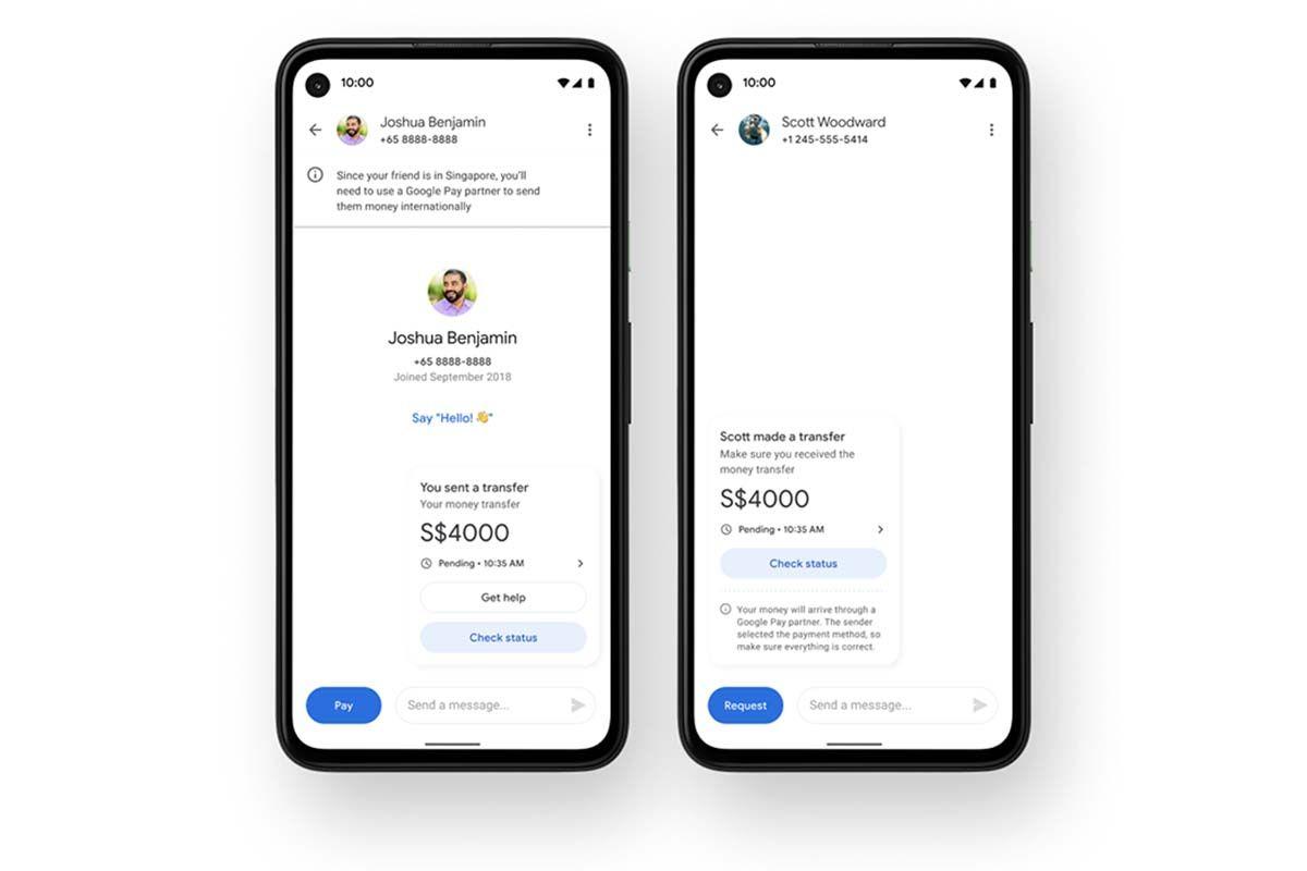 google pay esta probando pagos entre usuarios remesas estados unidos india y singapur