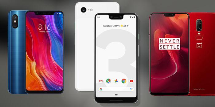 google pixel 3 xl vs oneplus 6 vs xiaomi mi 8