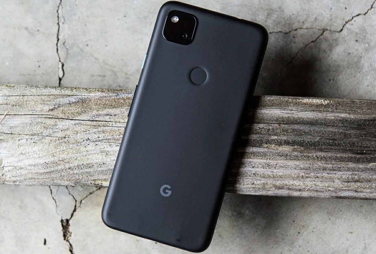 google pixel 4a de color negro