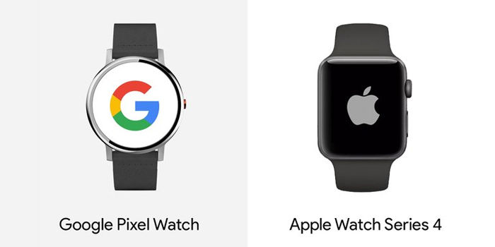 google pixel watch vs apple watch 4 comparativa