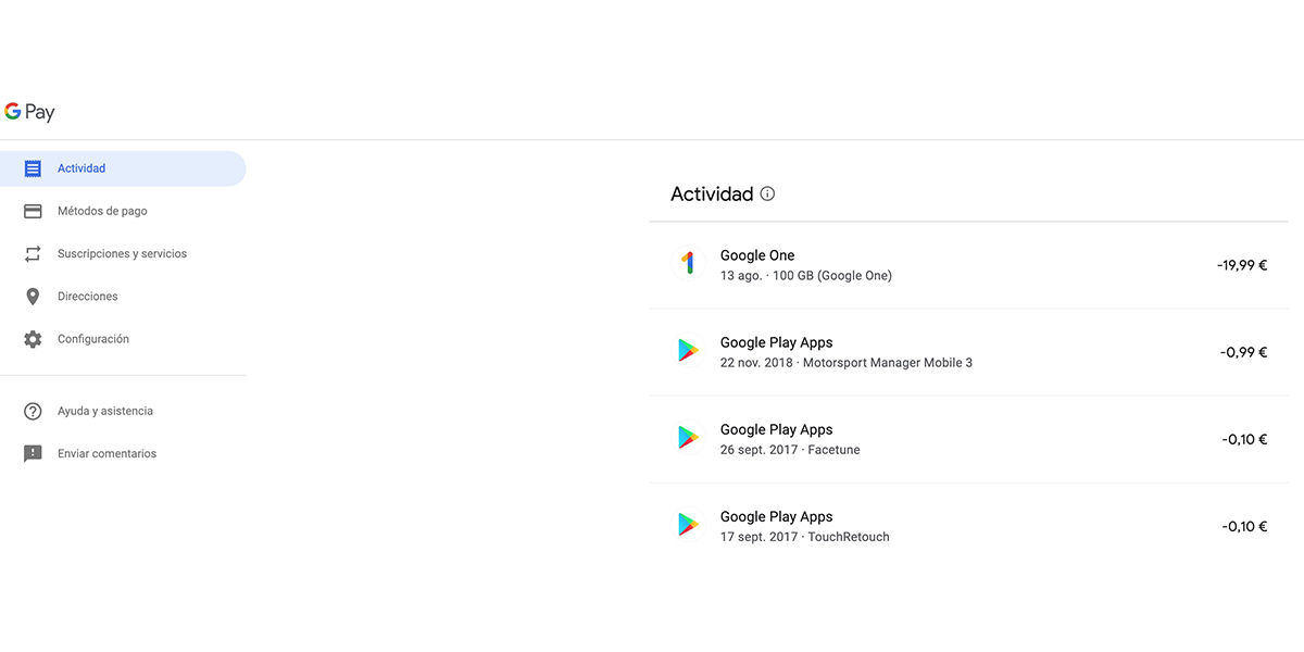 google play factura iva