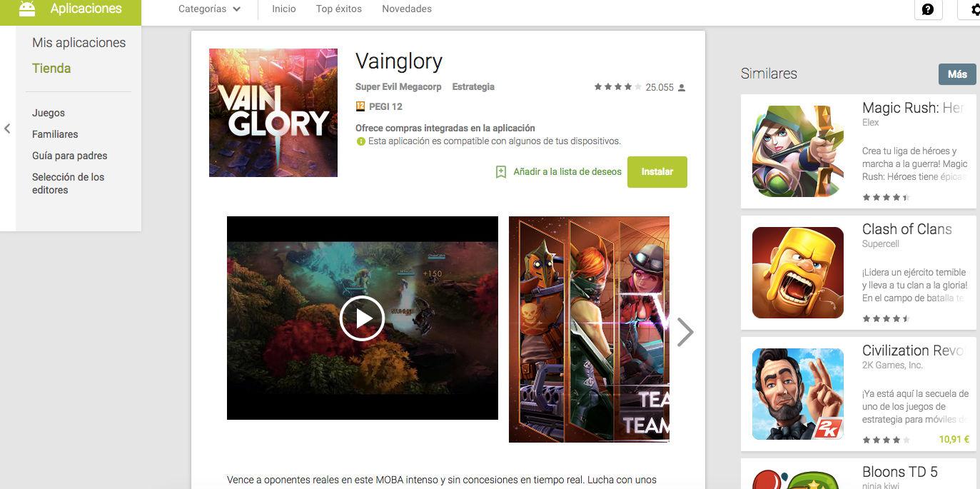 google-play-store-interfaz