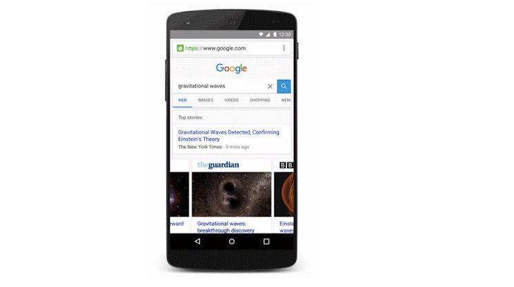 google search carga rapido