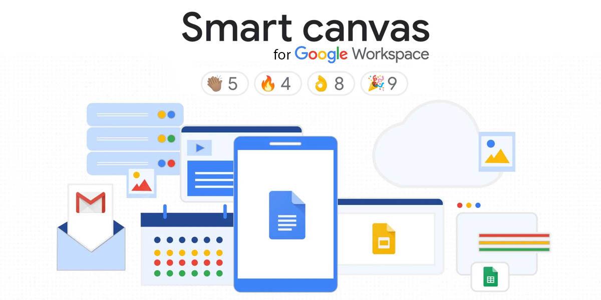 google smart canvas actualización workspace