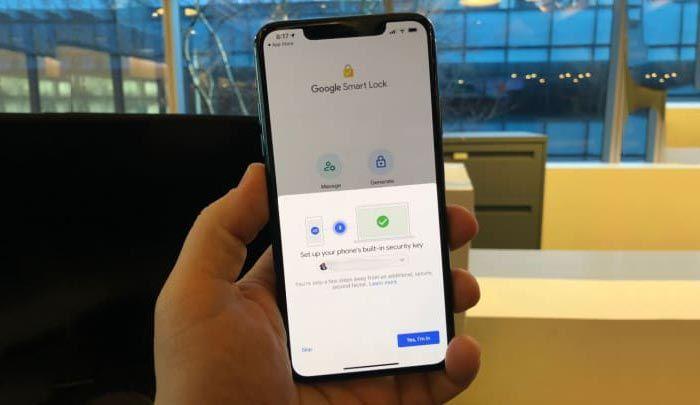 iphone google smart lock