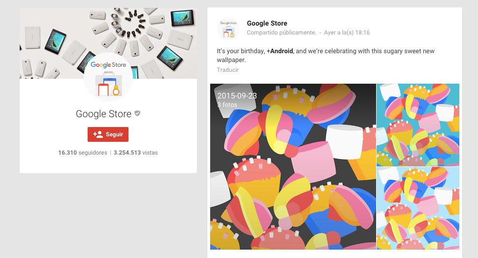 google store fondos marshmallow