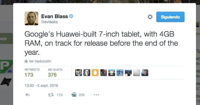 google tablet de Huawei de 7 pulgadas