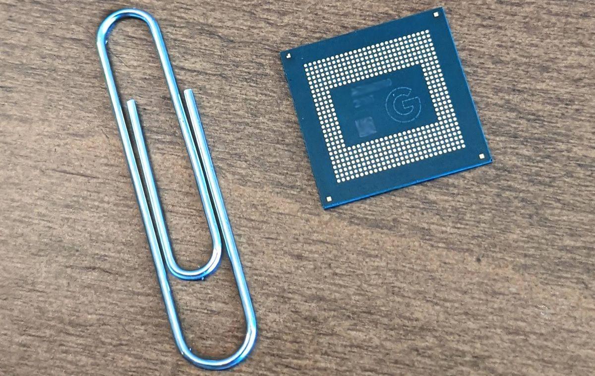 google tensor chip tamano