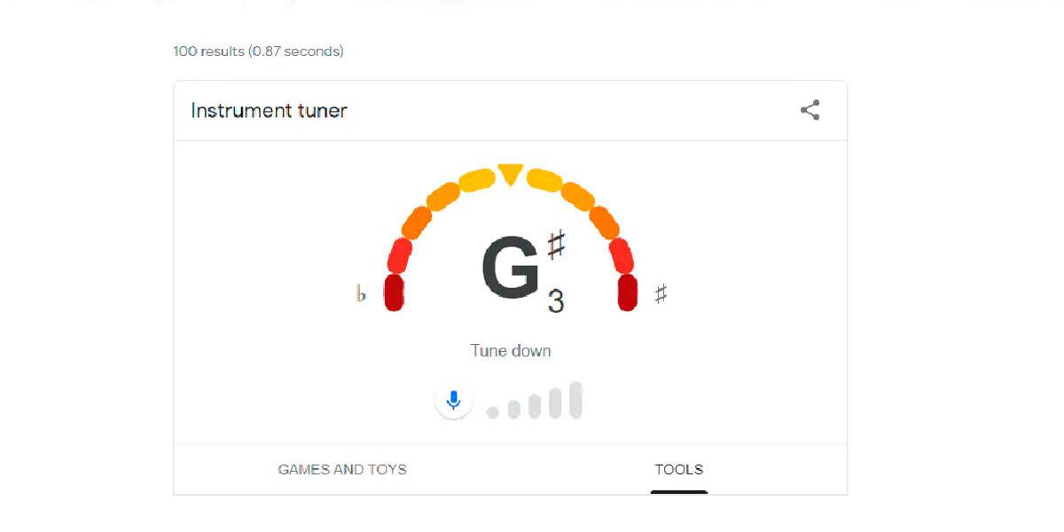 google tuner cómo usar