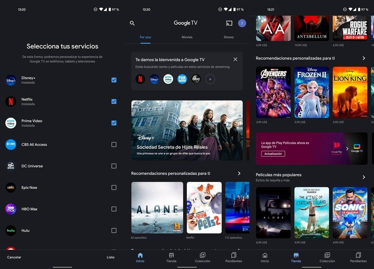 google tv nueva app para moviles