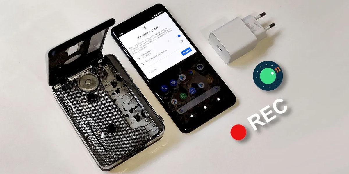 grabación pantalla android 11