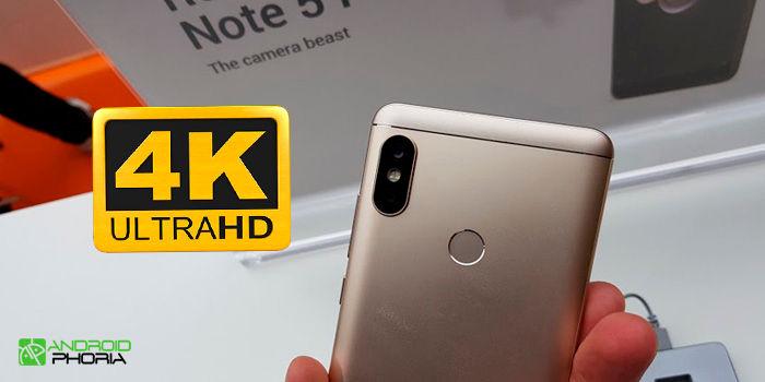 Cómo grabar en resolución 4K desde el Xiaomi Redmi Note 5 Pro
