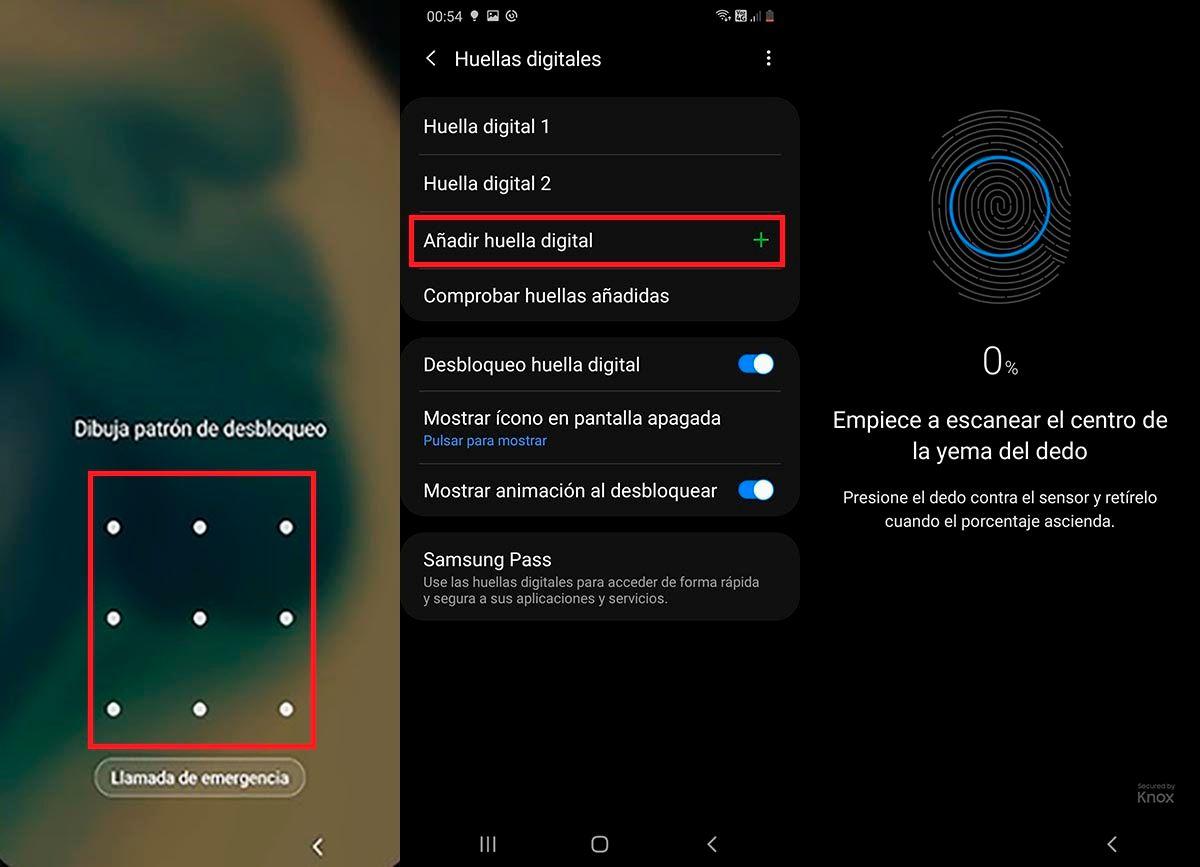Guardar huella dactilar Samsung Galaxy M51
