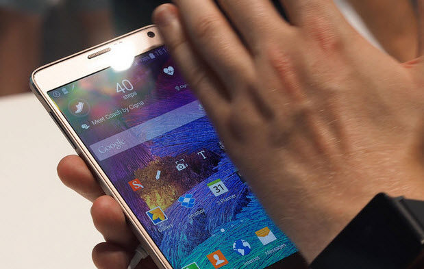 hacer captura de pantalla en Galaxy Note 5