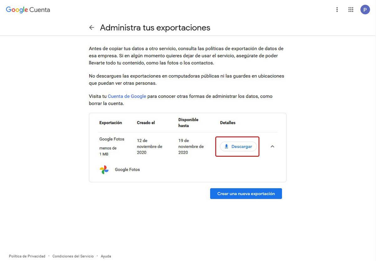 hacer copia seguridad Google Fotos con takeout