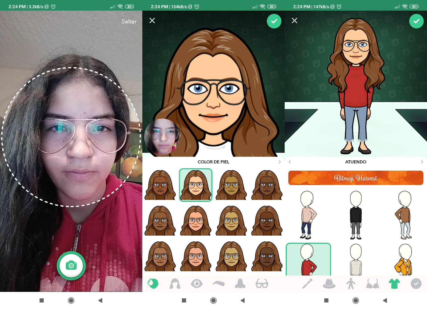 hacer emojis con Bitmoji