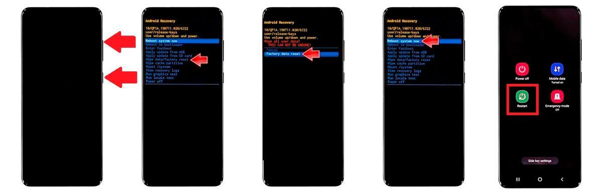 hacer hard reset Galaxy M51