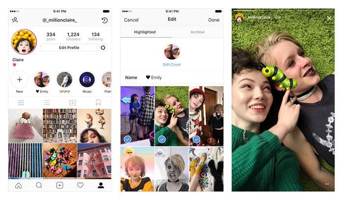 histagram agrega las historias destacadas