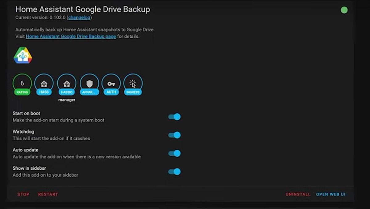 home assistant google drive backup