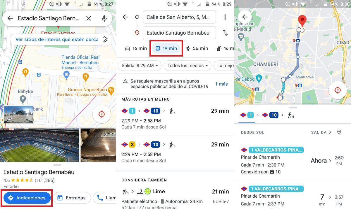 horarios de estaciones de metro de madrid cerca de ti google maps