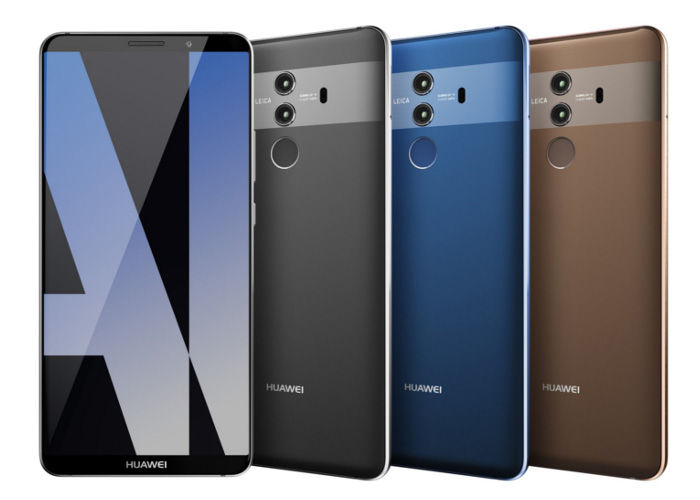 Huawei Mate 10 diseño colores