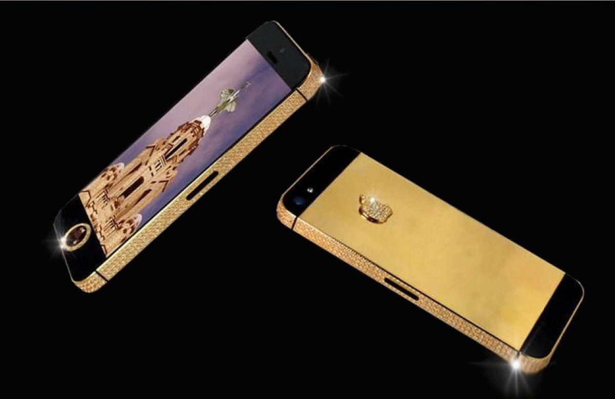 iPhone 3G Kings Button, con un diamante como botón principal