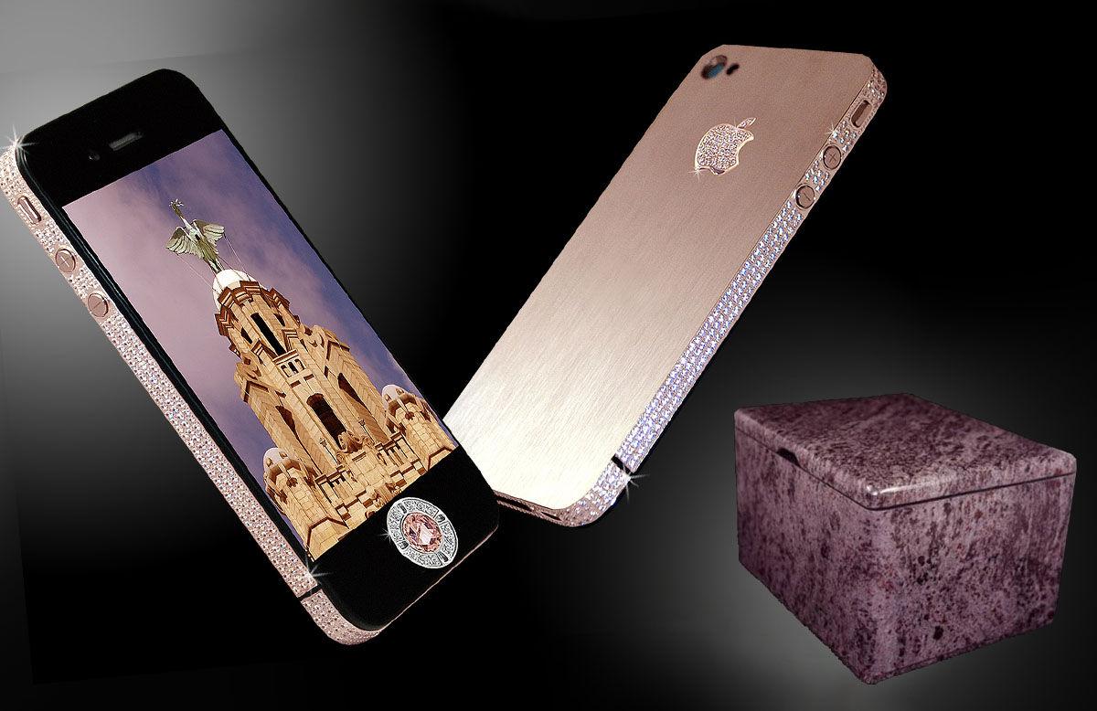 iPhone 4 Diamond Rose Edition, con más de 500 diamantes y un precio de 8 millones