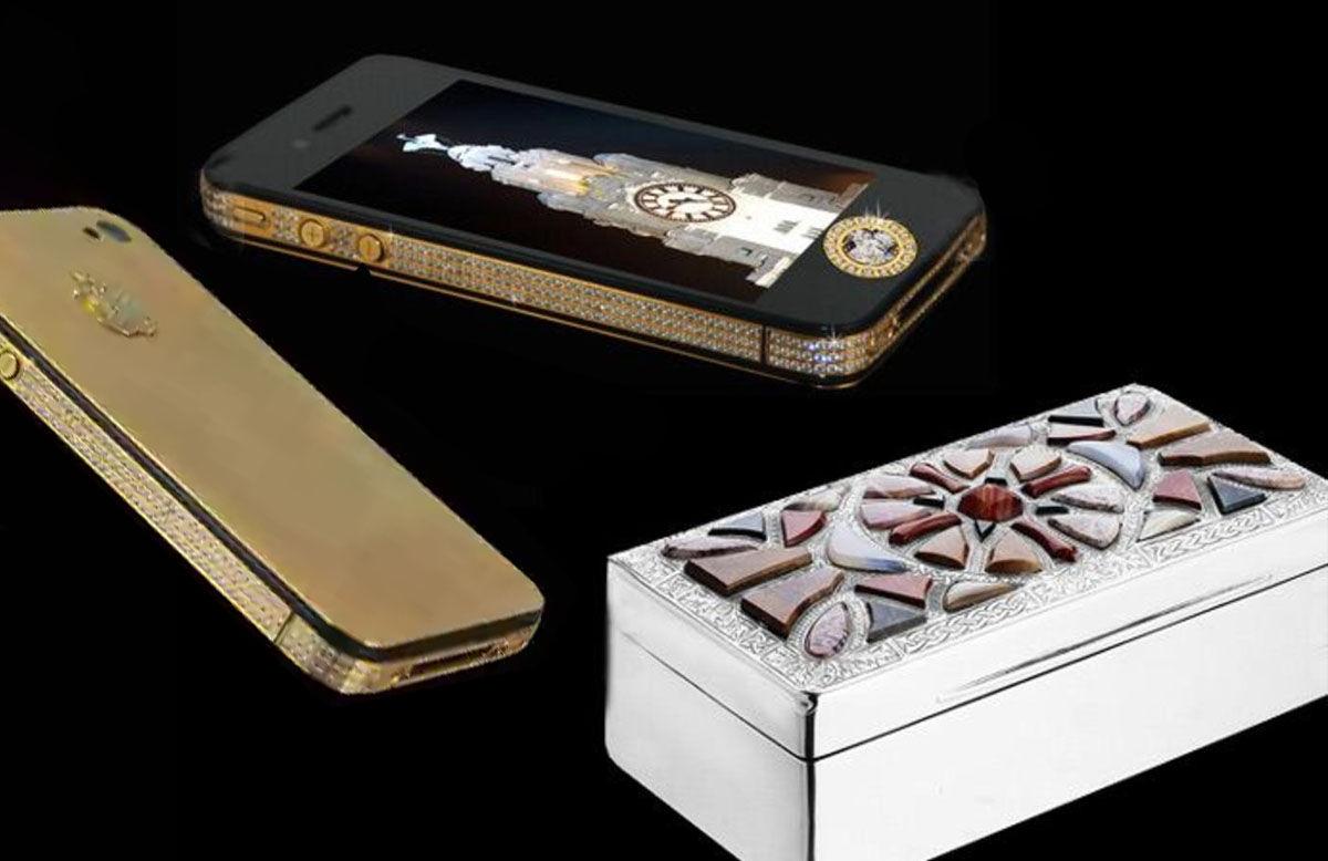 iPhone 4s Elite Gold, y su caja hecha de platino y huesos de dinosaurio