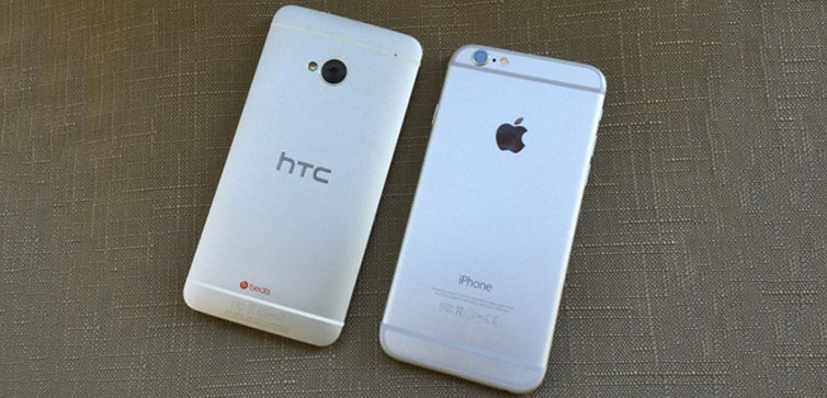 iPhone 6S vs HTC One M7