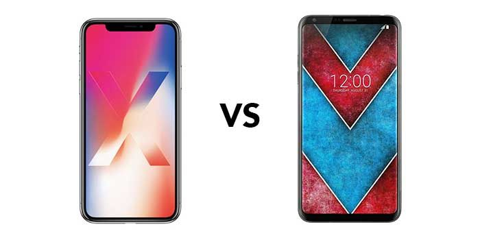 iPhone X vs LG V30