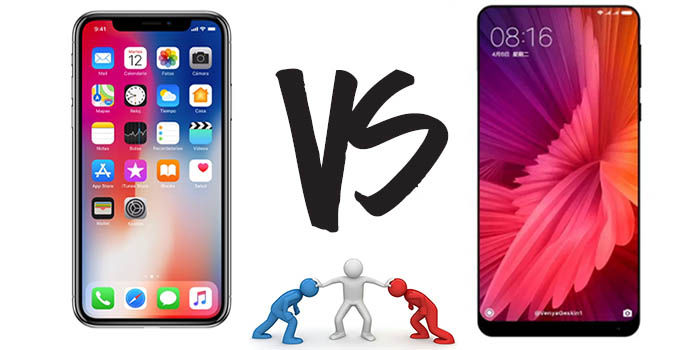 iPhone X vs Xiaomi Mi Mix 2