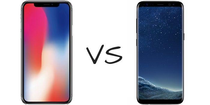 iPhone X vs Galaxy S8 comparativa